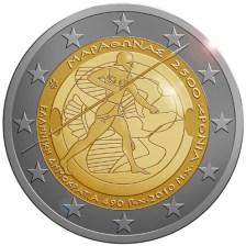 2 €, 2.500 χρόνια από τη Μάχη του Μαραθώνα, Ελλάδα, 2010
