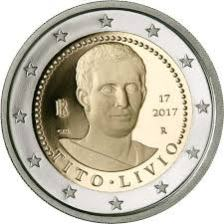 2 Ευρώ, Ιταλία,2000. επέτειος από το θάνατο του Τίτο Λίβιο, 2017