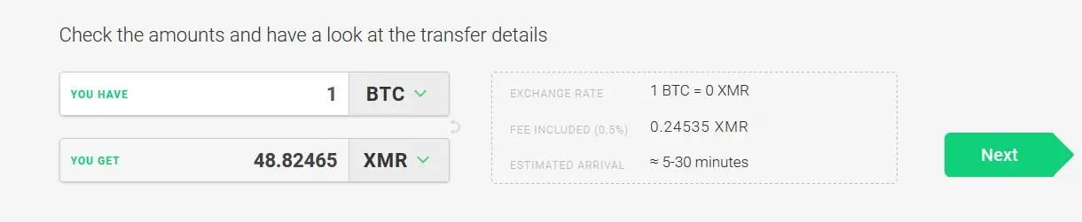 Exchange Monero XMR