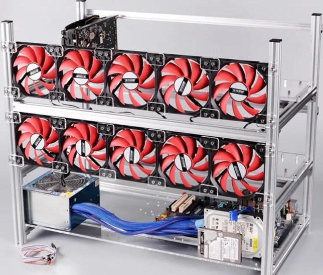 12 GPU Mining Frame
