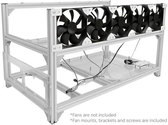 Baseltek 6 GPU Aluminum Mining Frame