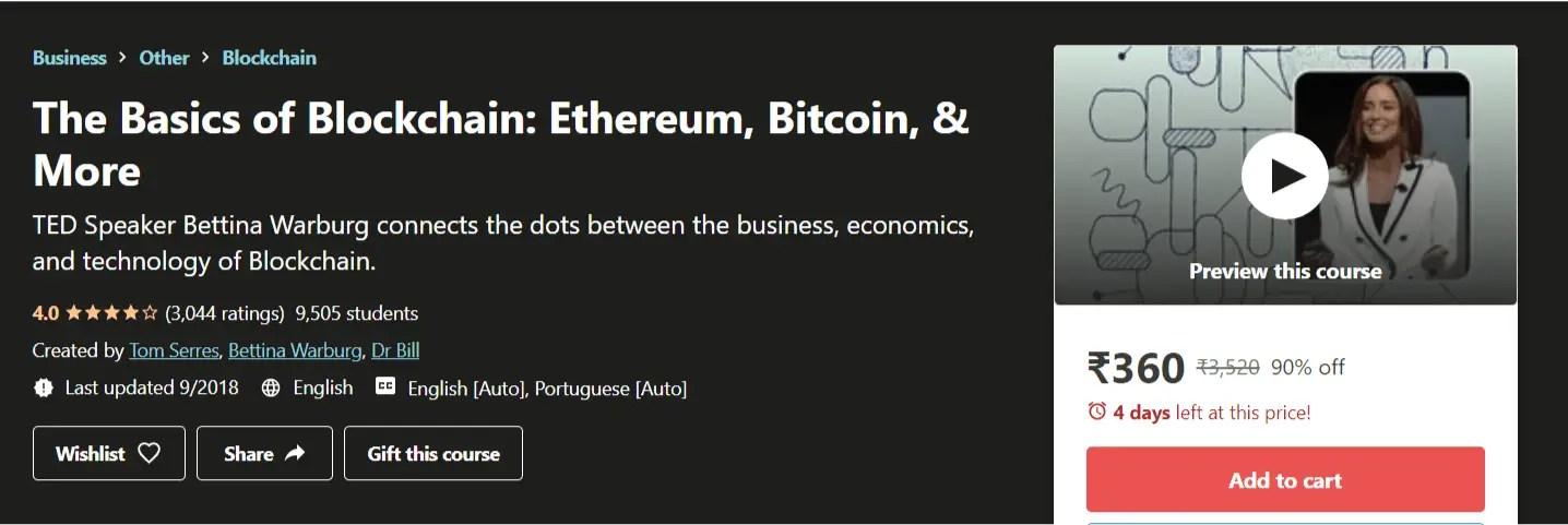 The Basics of Blockchain