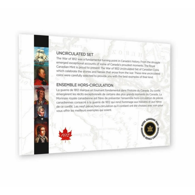2013 Canadian 9-Coin The War of 1812 Uncirculated Proof