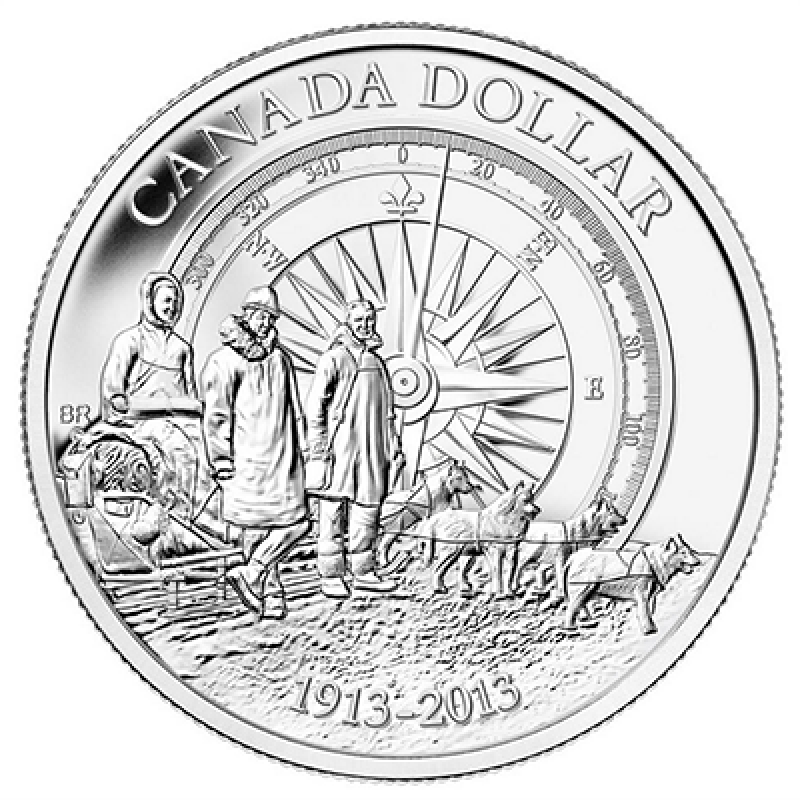 2013 (1913-) Canadian $1 Arctic Expedition 100th
