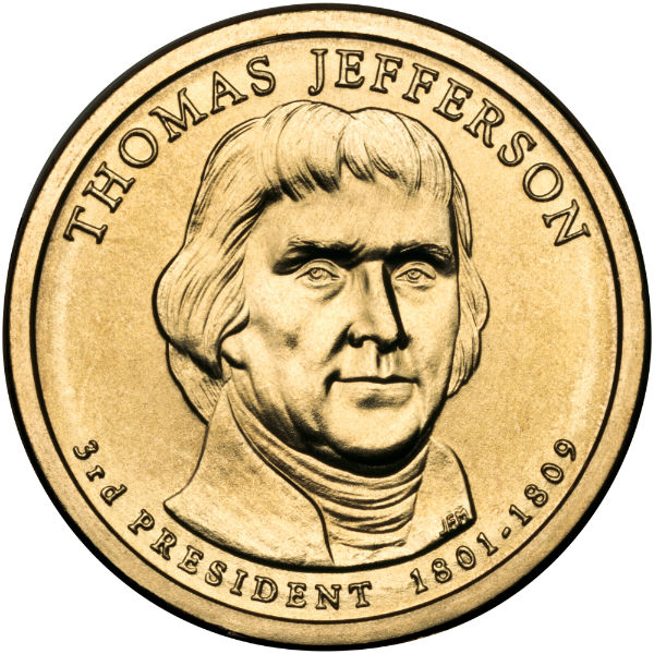 2007D $1 Jefferson 25-Coin Roll