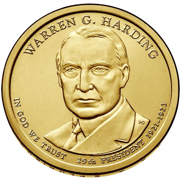 2014D $1 Harding 25-Coin Roll