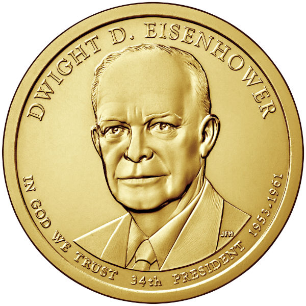 2015P $1 Eisenhower