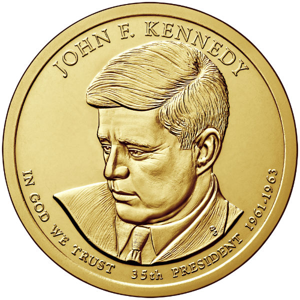 2015P $1 Kennedy