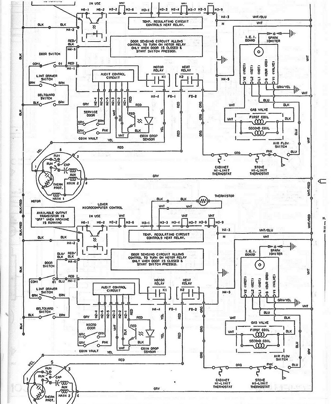 speed queen wiring schematic