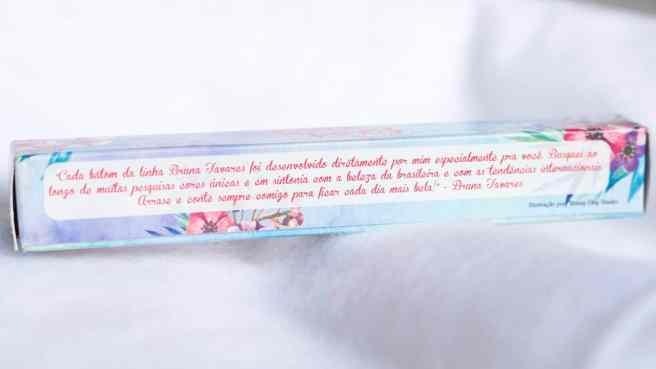 Batom Luísa Bruna Tavares - Embalagem (Verso)