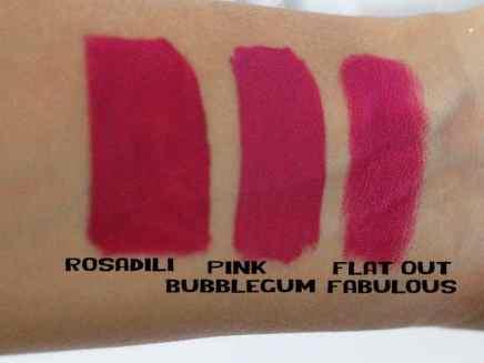Batons Evelyn Regly líquidos Pink Bubblegum comparação