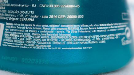 Máscara ingredientes