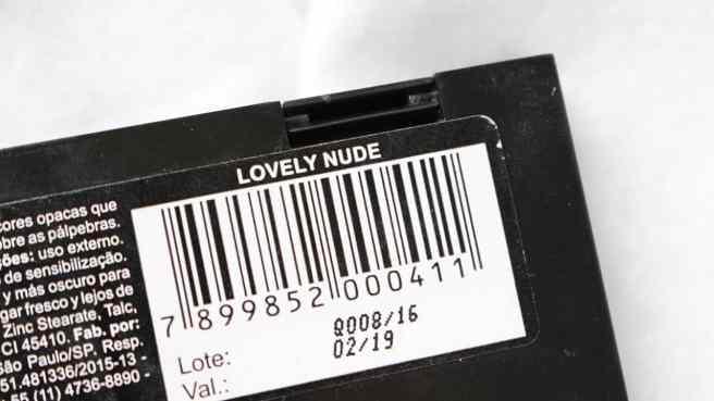 Quinteto Lovely Nude Vult - Embalagem