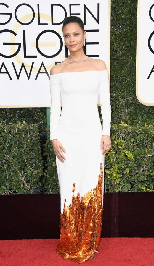 Thandie Newton in Monse at the 2017 Golden Globes