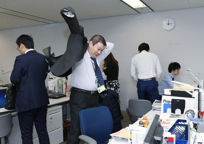funcionários indo embora mais cedo no Japão