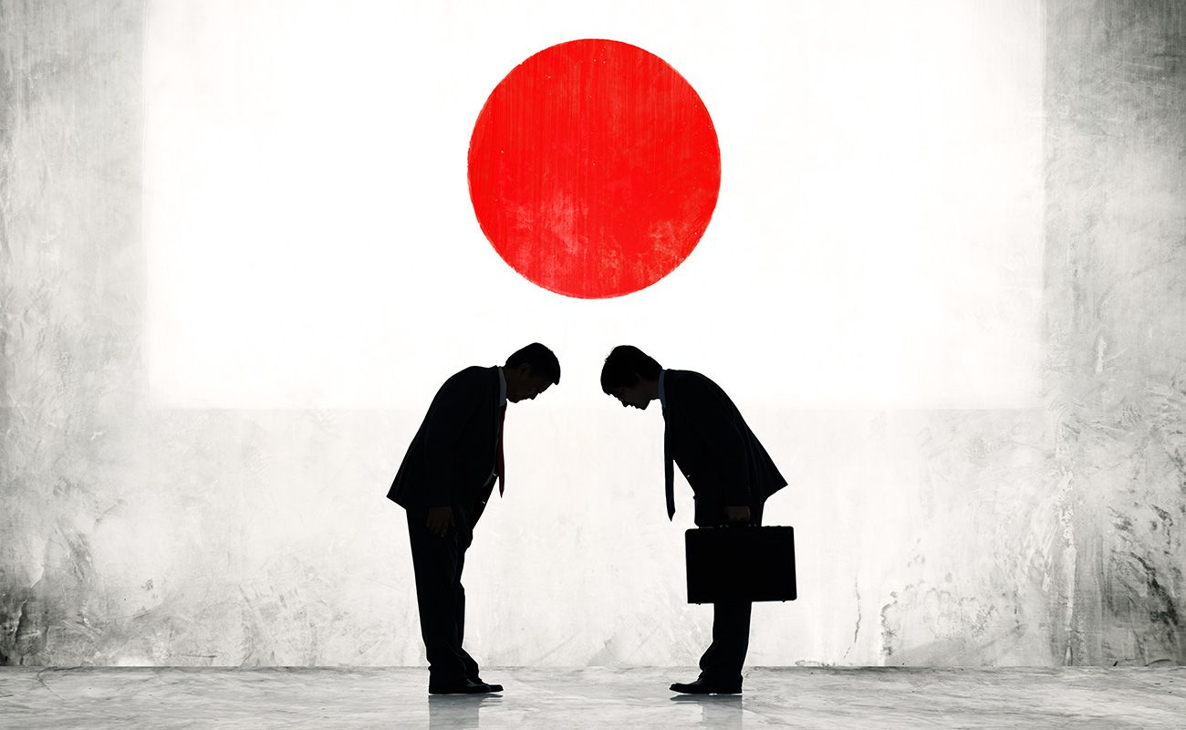 curvar-se no Japão
