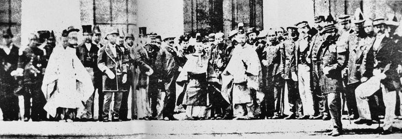 Imperador e representantes estrangeiros