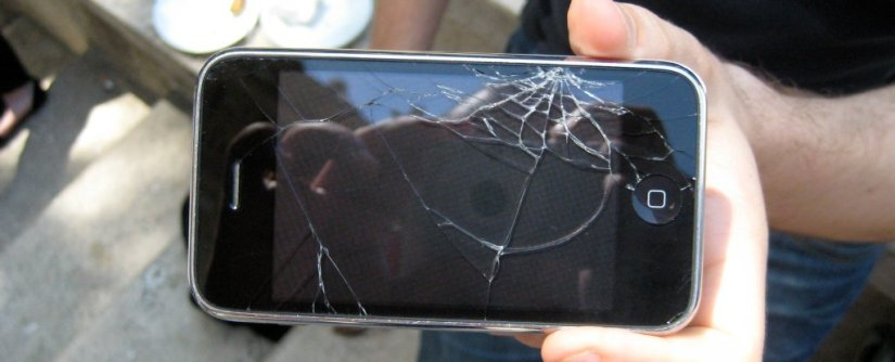 Tela rachada Iphone