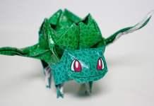 origami do pokemon bulbassauro