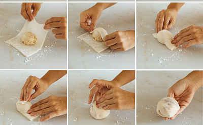 mochi com sorvete