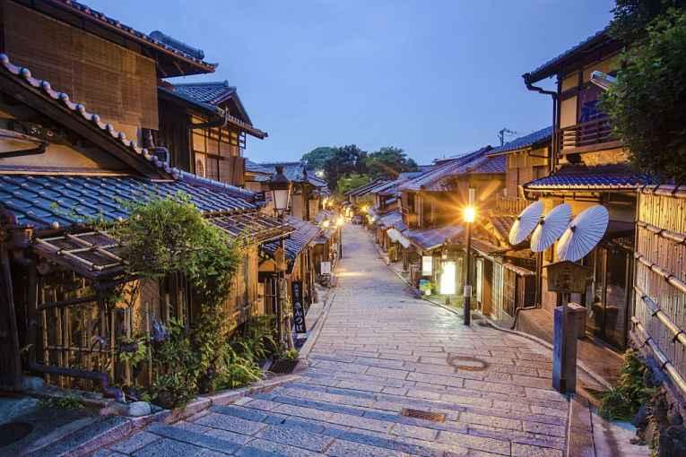 Rua do distrito de Gion