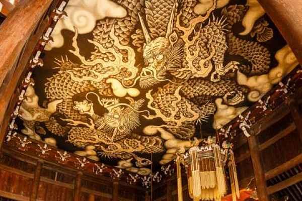 Teto pintado do templo Kennin-Jo