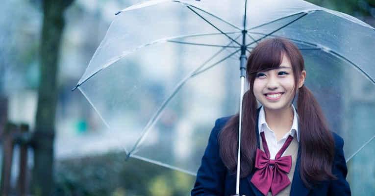 Japonesa sorrindo