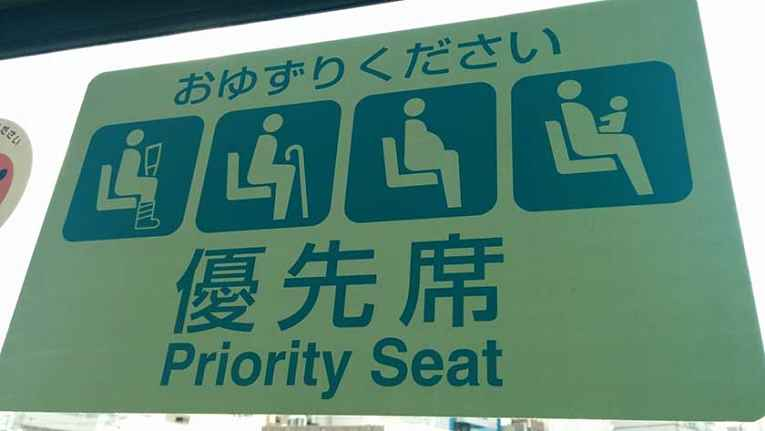 Placa de assentos reservados