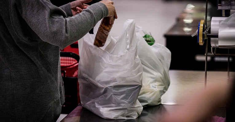 Sacola plástica no Japão