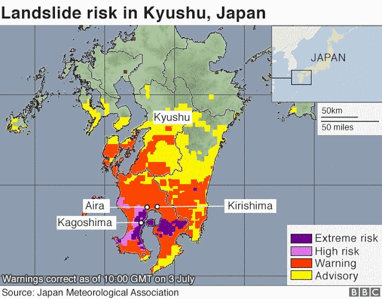 Mapa meteorológica japonesa