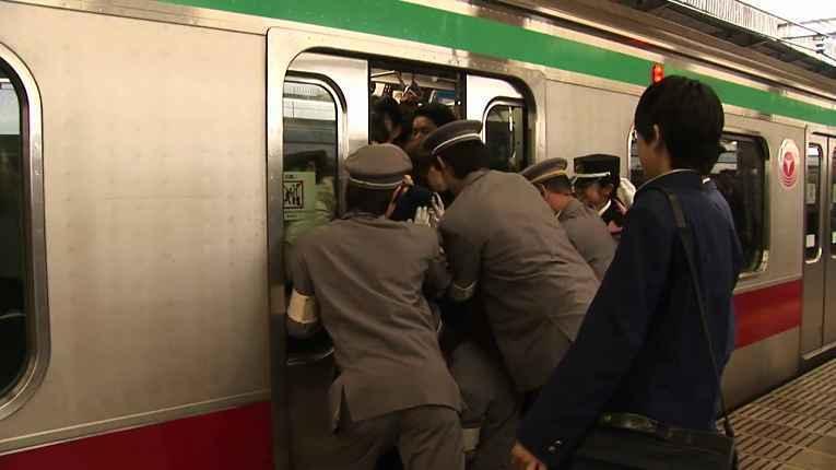 Metrô na hora do rush