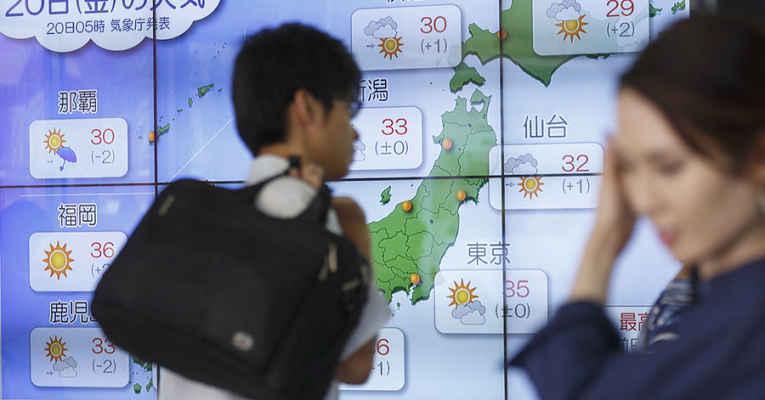 Calor no Japão