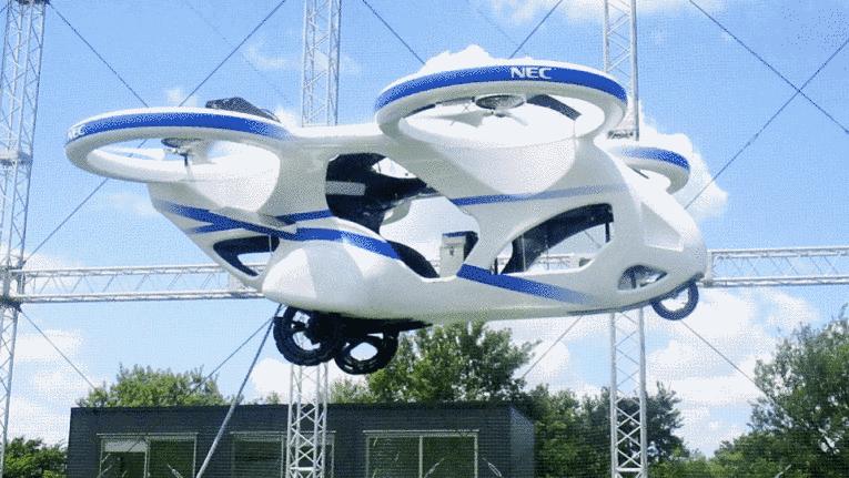 Protótipo carro voador no Japão