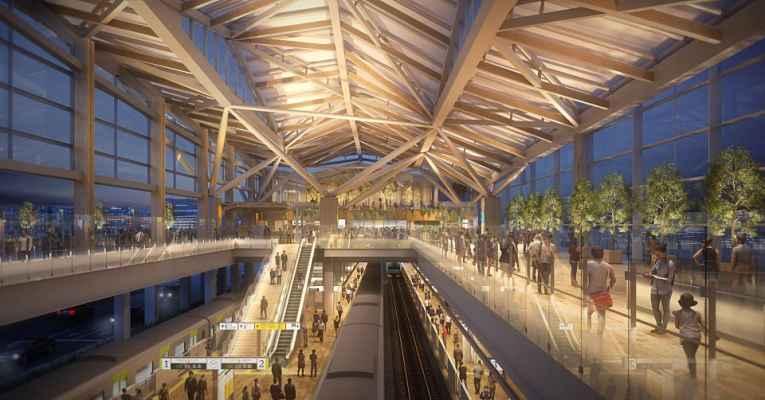 3D do interior da estação