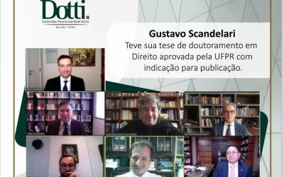Gustavo Britta Scandelari teve sua tese de doutoramento em Direito aprovada pela UFP