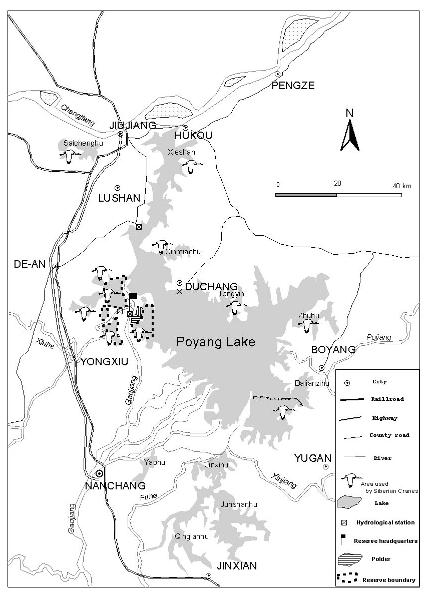 Map of Poyang Lake (linked from Siberian Crane Wetland