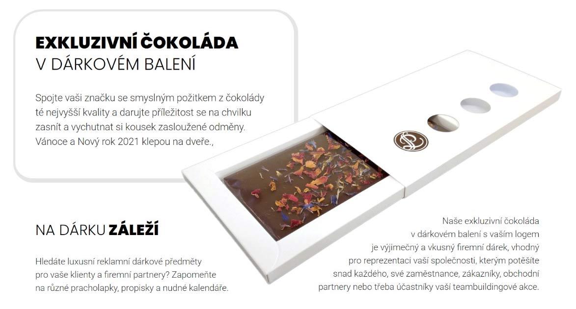 Exkluzivní čokoláda v dárkovém balení