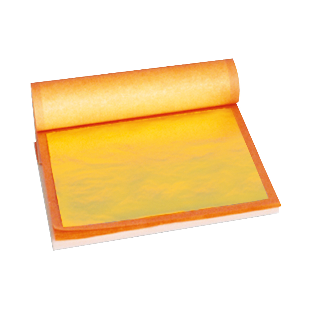 Zlato plátkové,jedlé , 25 plátov 8x8cm (23karátov)