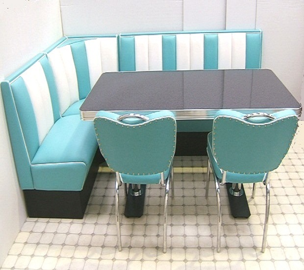 red retro kitchen table and chairs white task chair bel air hollywood corner booth set 130 x 210