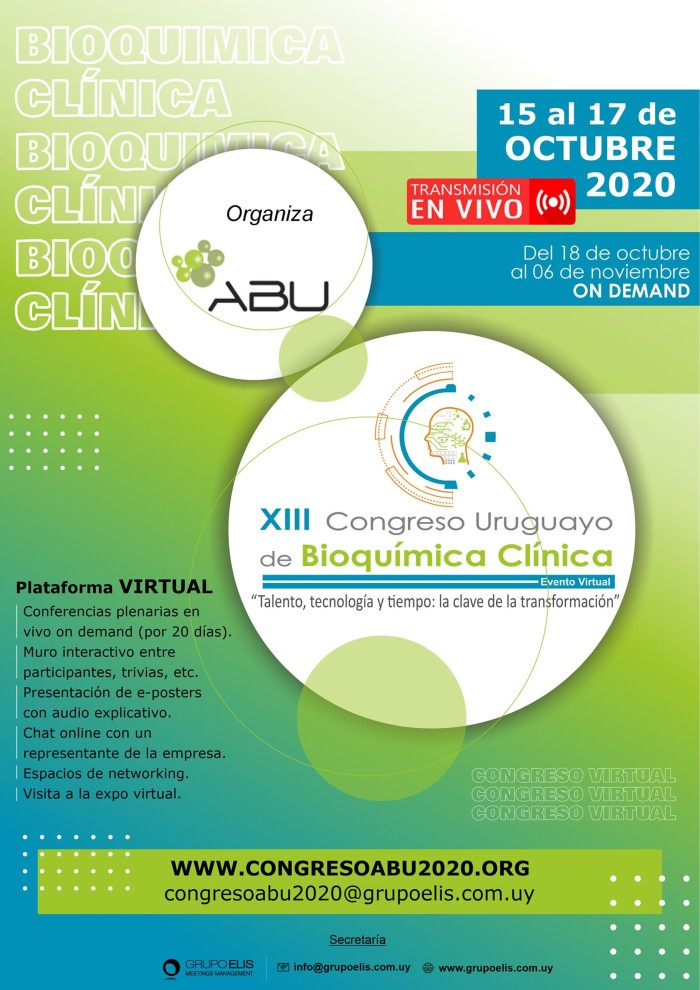 Xlll Congreso Uruguayo de Bioquímica Clínica