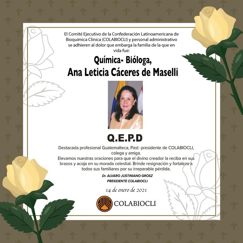 F. Ana Leticia Cáceres de Maselli