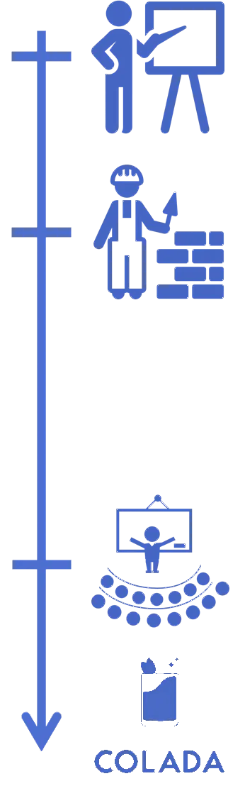 fresque verticale d'explication atelier teambuilding colada cocktails