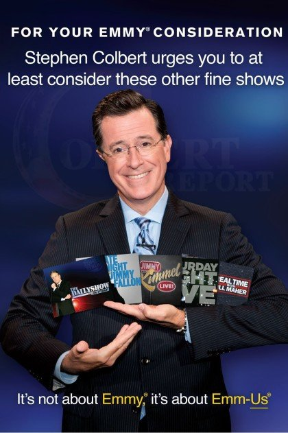 Stephen Colbert Emmy Consideration Advertisement