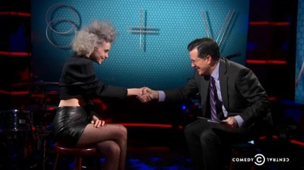 St Vincent on The Colbert Report