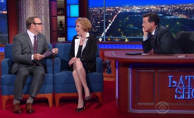 Kevin Spacey and Carol Burnett on The Late Show with Stephen Colbert