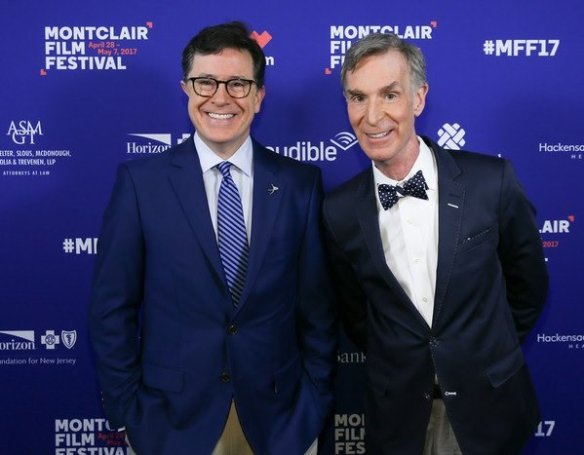 Stephen Colbert and Bill Nye at the Montclair Film Festival
