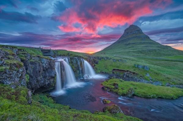 Landscape Waterfall Iceland