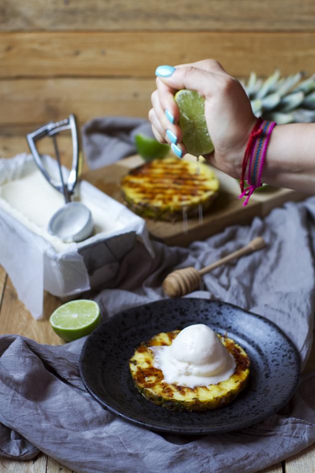 Ananas grigliato con gelato al cocco_07