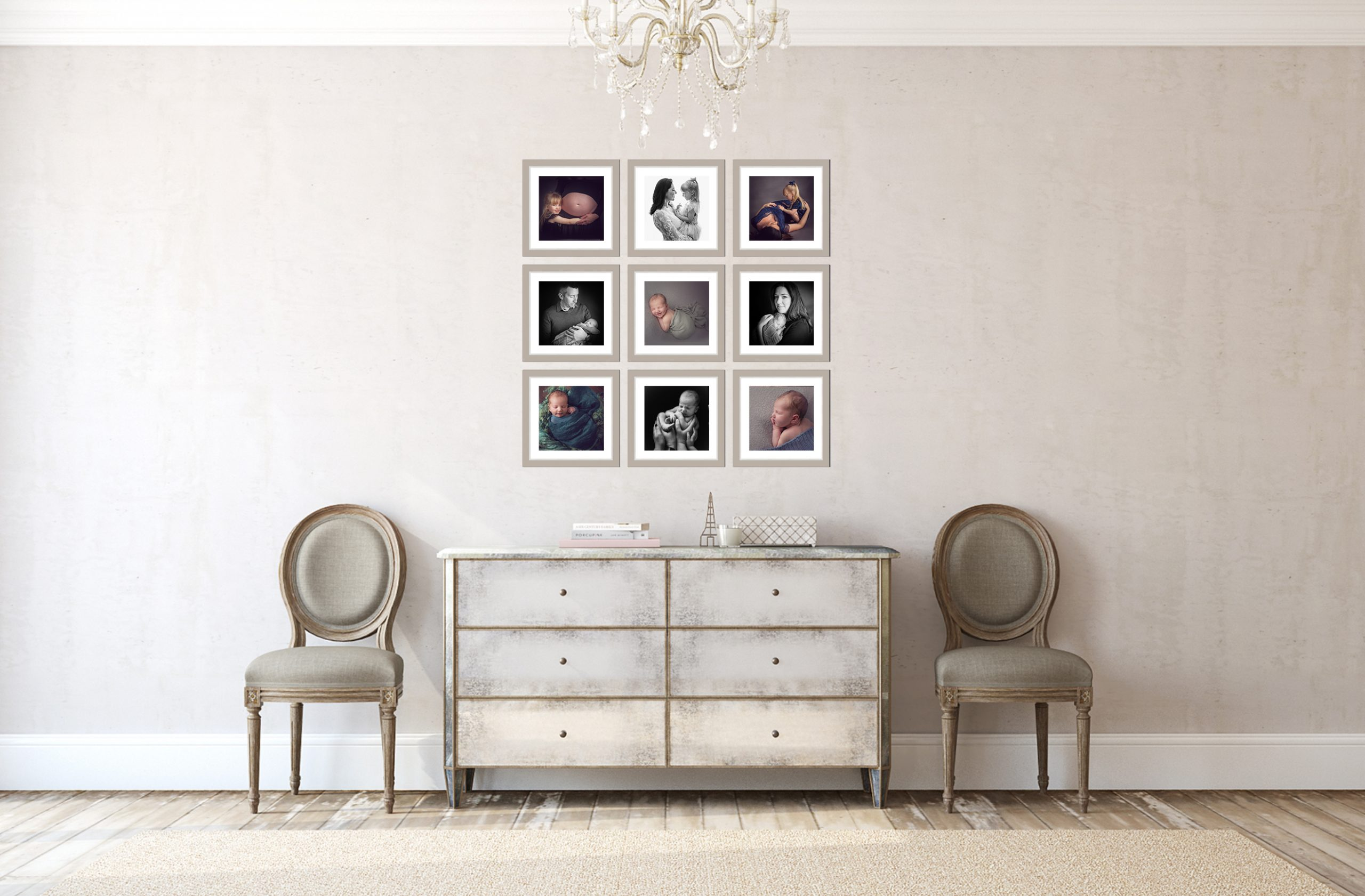 white frame gallery wall ideas