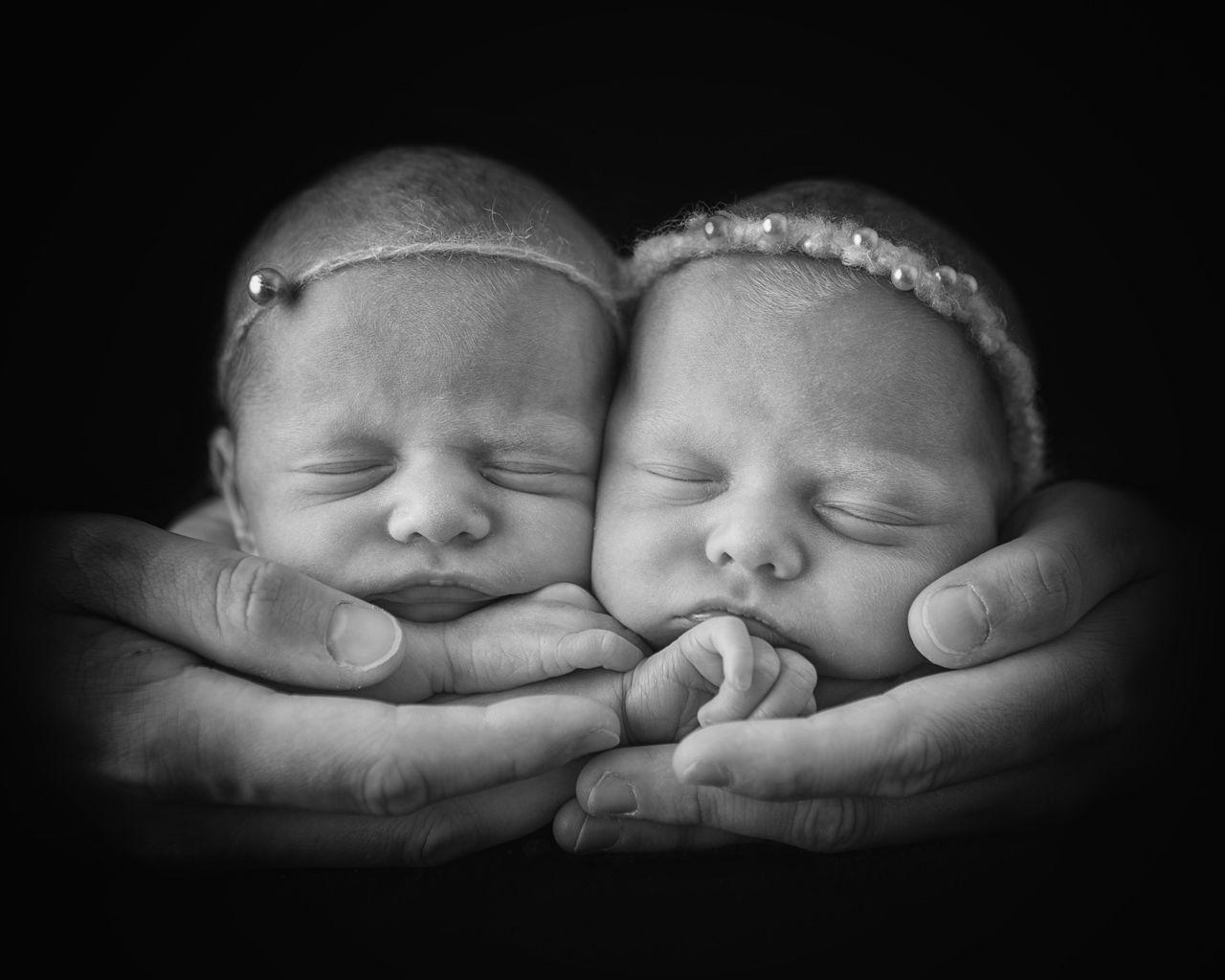 cute baby photo of twin girls